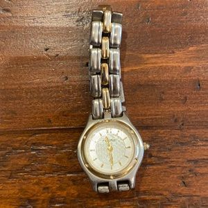 Fossil 2 Woman's Two Tone Watch.